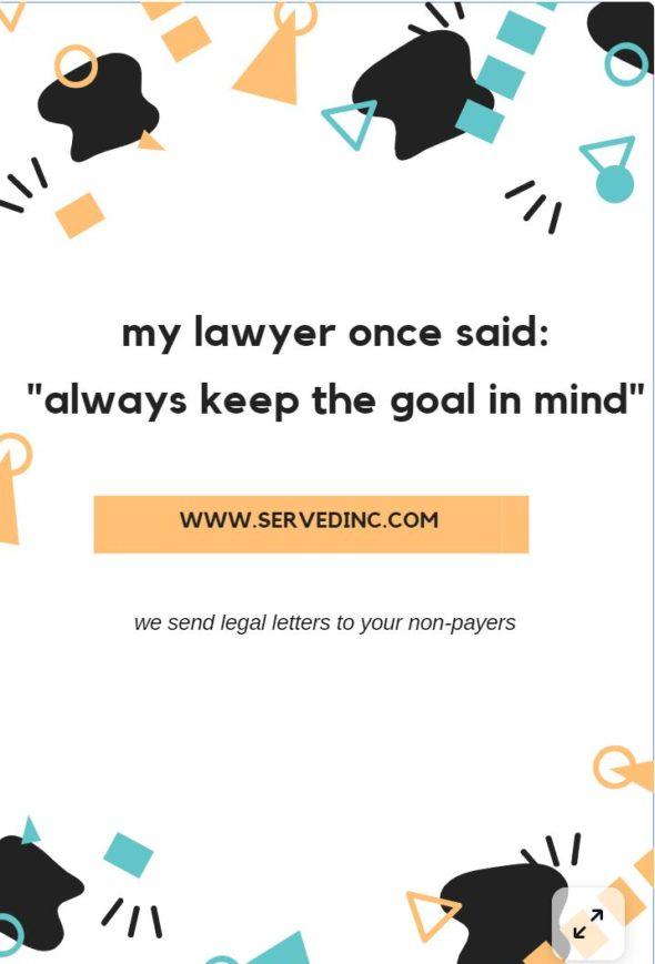 My lawyer once said..